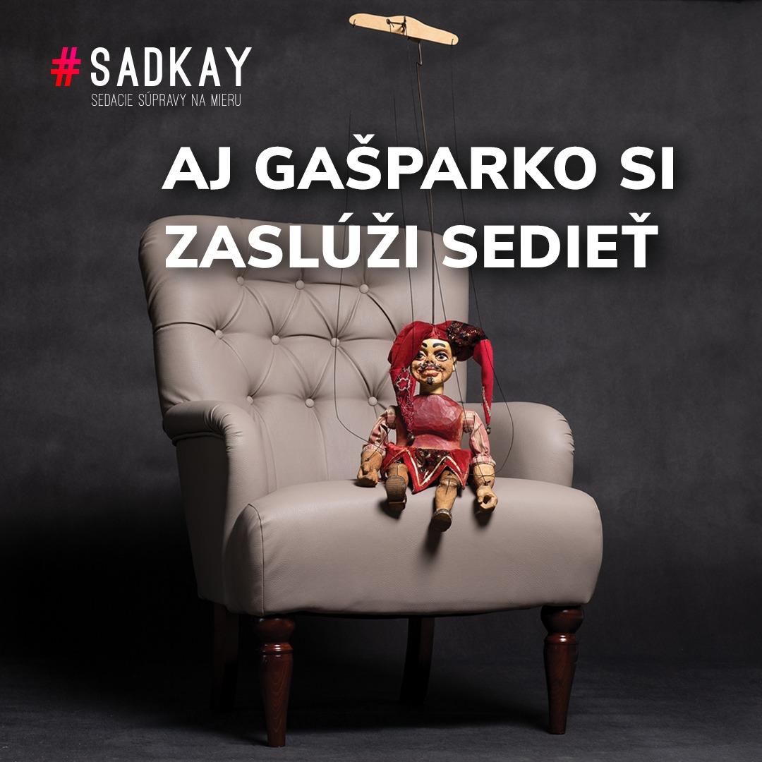 Aj Gašparko si zaslúži sedieť - vizuál | Kreatívne štúdio Autentik