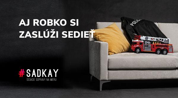 Vizuál reklamnej kampane - Aj Robko si zaslúži sedieť